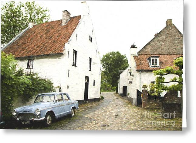 Simca Oldtimer Parked Greeting Card