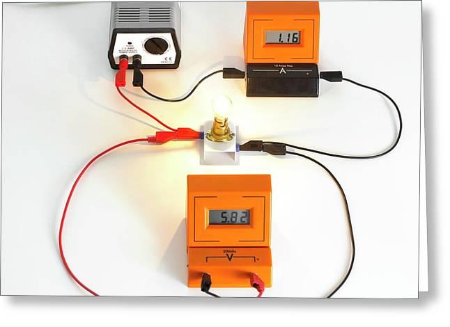 Simple Light Bulb Circuit Greeting Card