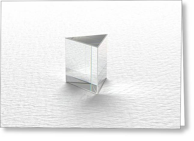 Single Clear Prism Greeting Card by David Parker