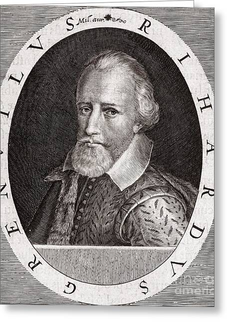 Sir Richard Grenville, English Explorer Greeting Card by Middle Temple Library