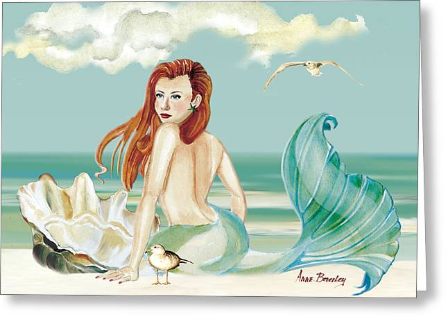 Siren Of The Sea Greeting Card