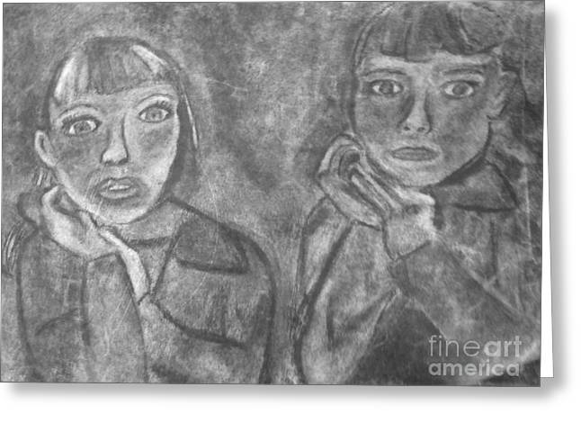 Sisters Greeting Card by Khristin Kelly
