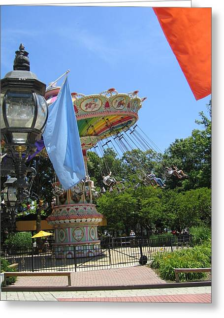 Six Flags America - 12124 Greeting Card by DC Photographer