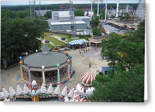 Six Flags Great Adventure - 12127 Greeting Card by DC Photographer
