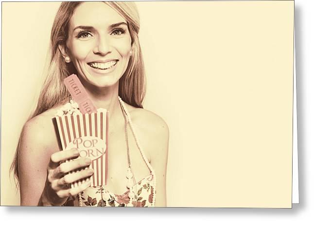 Sixties Retro Film Greeting Card by Jorgo Photography - Wall Art Gallery