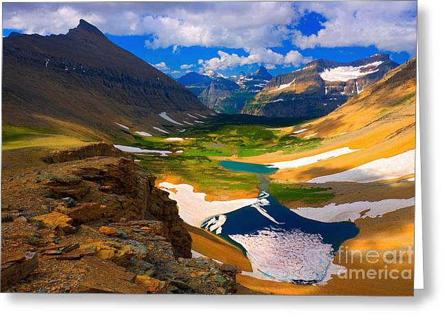 Greeting Card featuring the photograph Siyeh Pass by Aaron Whittemore