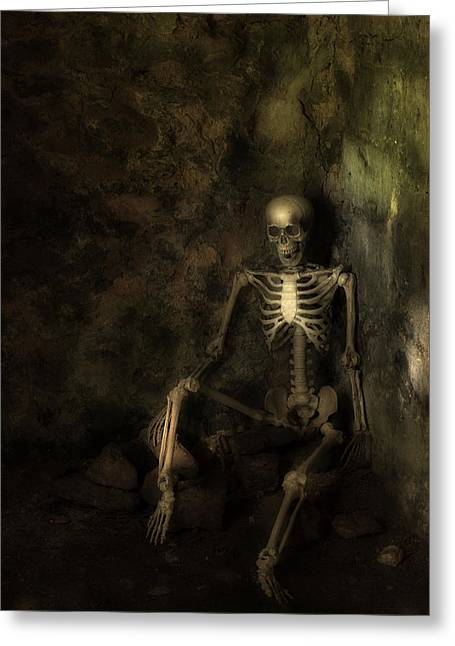 Skeleton Greeting Card by Amanda Elwell