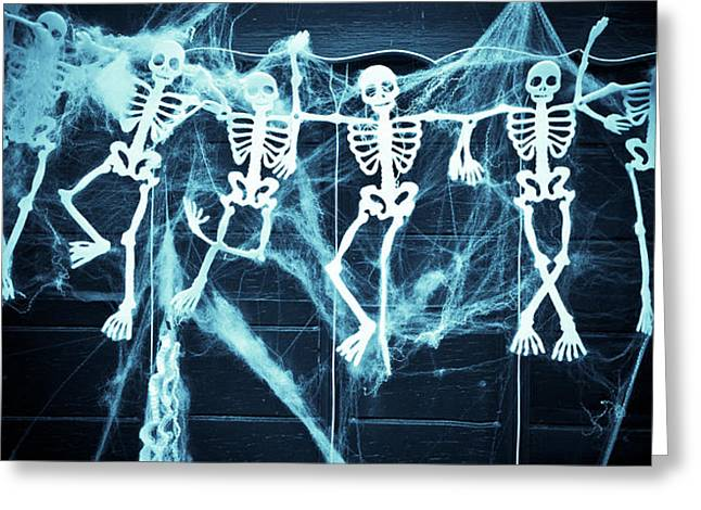 Skeletons Greeting Card by Tom Gowanlock