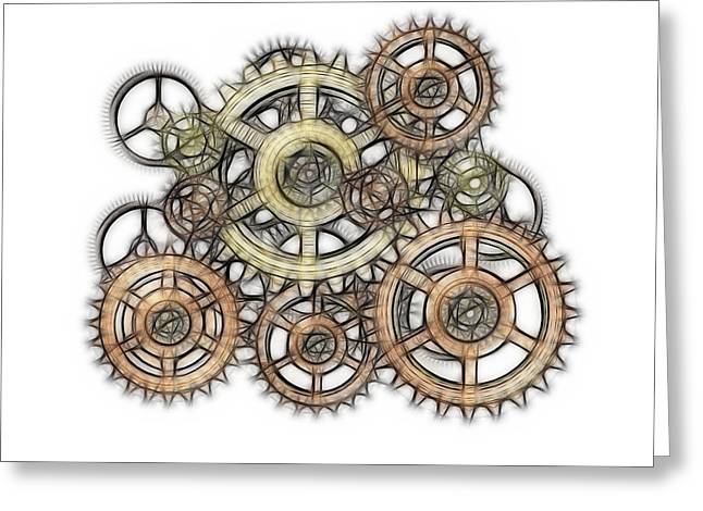 Sketch Of Machinery Greeting Card by Michal Boubin