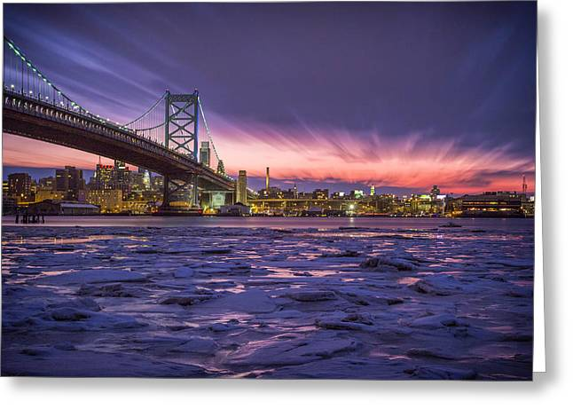 Sky Fire Greeting Card by Rob Dietrich