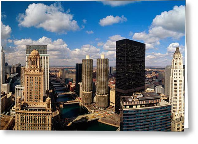 Skyline From Lake Michigan, Chicago Greeting Card by Panoramic Images