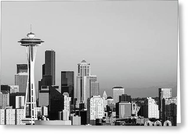 Skyline, Seattle, Washington State, Usa Greeting Card