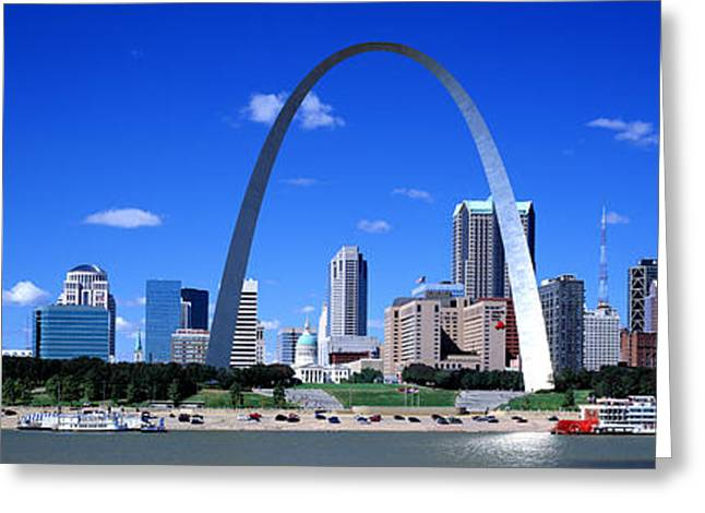 Skyline, St Louis, Mo, Usa Greeting Card