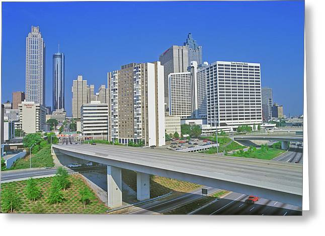 Skyline View Of The State Capital Greeting Card