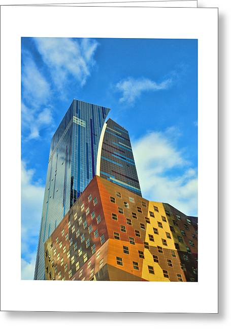 Skyscraper Abstract 3 Greeting Card by Allen Beatty