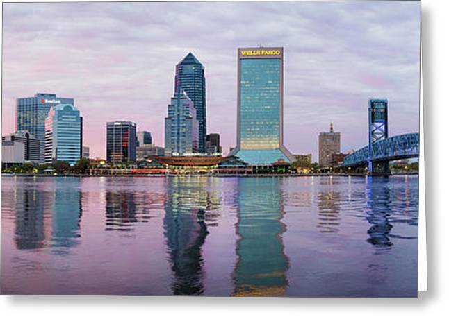Skyscrapers At The Waterfront, Main Greeting Card by Panoramic Images