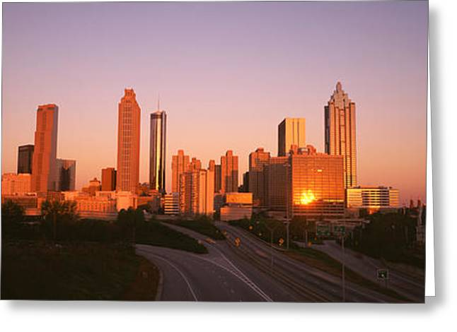 Skyscrapers In A City, Atlanta Greeting Card by Panoramic Images