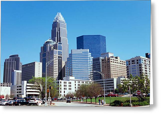Skyscrapers In A City, Charlotte Greeting Card