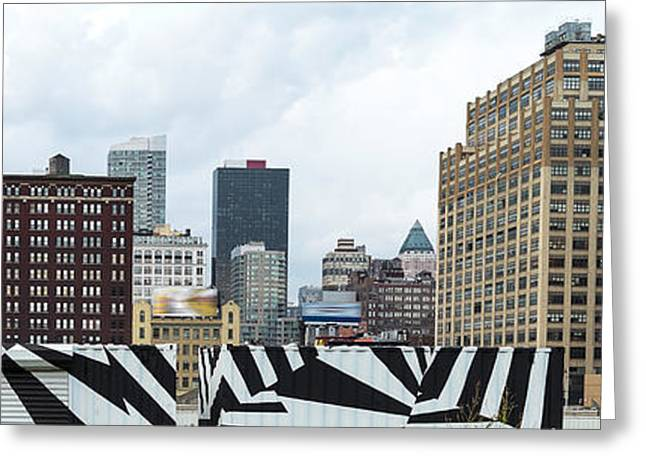Skyscrapers In A City, Lower West Side Greeting Card by Panoramic Images