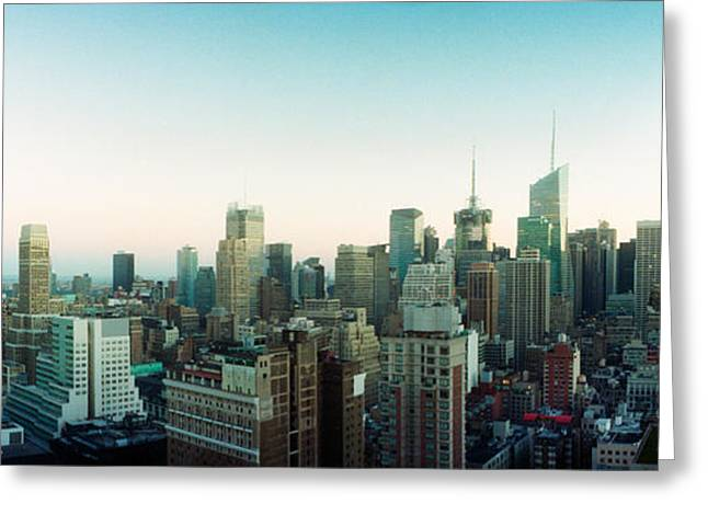 Skyscrapers In A City, Midtown Greeting Card by Panoramic Images