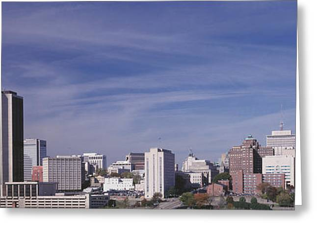 Skyscrapers In A City, Richmond Greeting Card by Panoramic Images