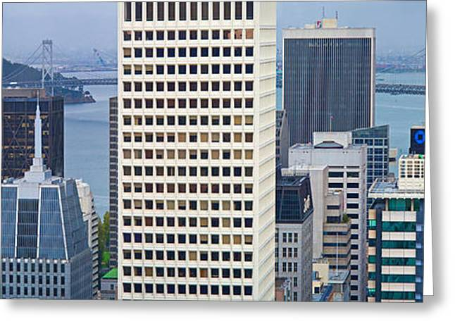 Skyscrapers In The Financial District Greeting Card by Panoramic Images