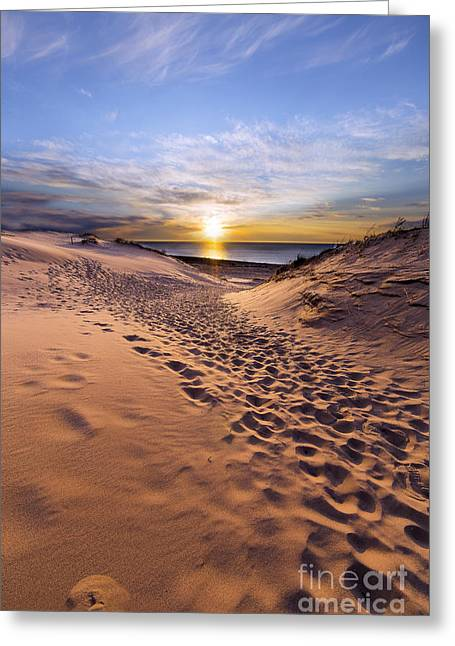 Sleeping Bear Dunes Sunset Greeting Card by Twenty Two North Photography
