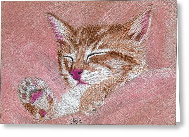 Sleeping Kitty Greeting Card