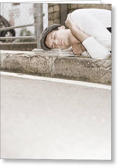 Sleeping On The Job Greeting Card by Jorgo Photography - Wall Art Gallery
