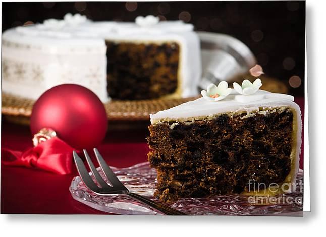 Slice Of Christmas Cake Greeting Card