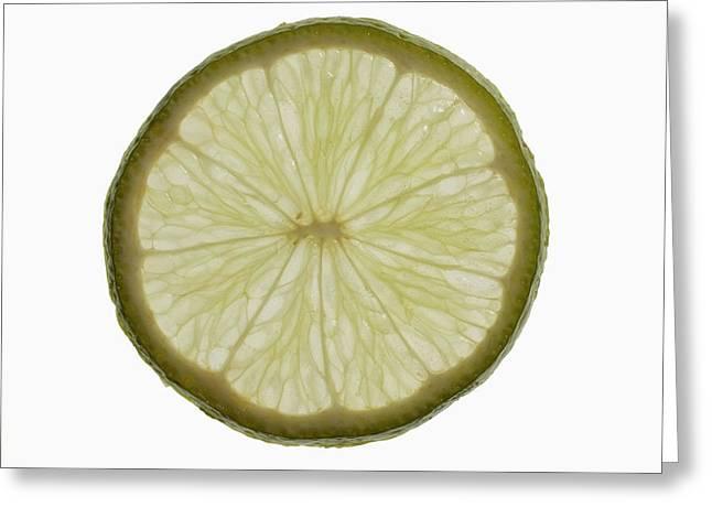 Slice Of Lime, Backlit Greeting Card