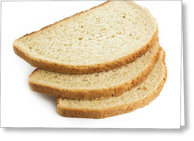 Slices Of Bread Greeting Card by Science Photo Library