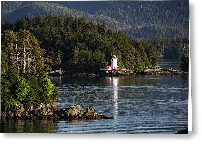 Small Islands Populated By Sitka Spruce Greeting Card