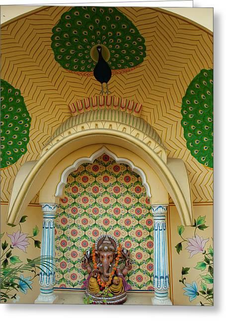 Small Shrine To Ganesh, Jaipur Greeting Card