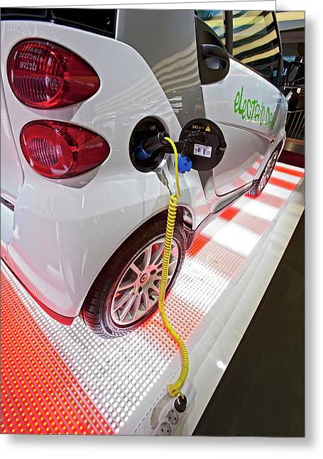 Smart Fortwo Electric Car Greeting Card by Jim West