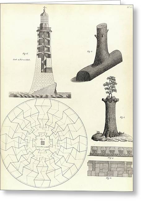 Smeaton's Tower Greeting Card by Royal Institution Of Great Britain