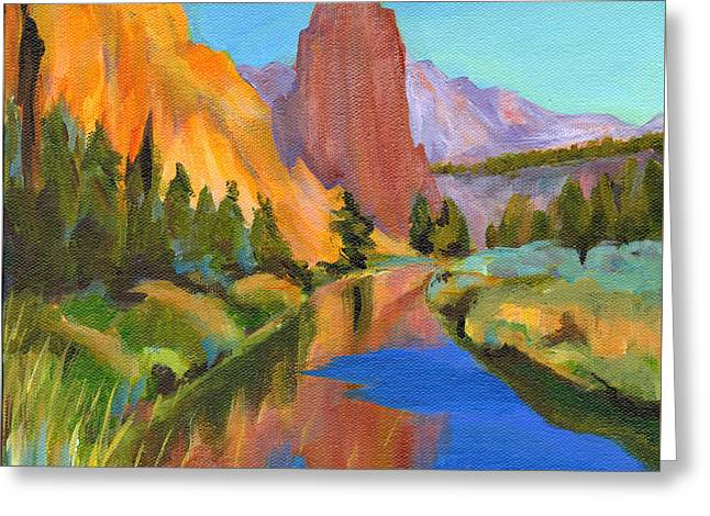 Smith Rock Canyon Greeting Card by Tanya Filichkin