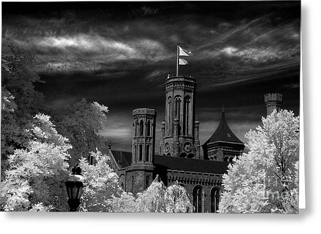 Smithsonian Castle Greeting Card by Mike Kurec