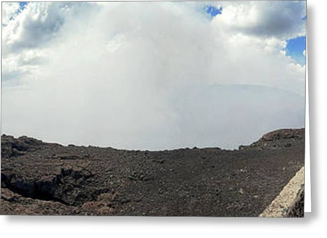 Smoke Erupting Form The Masaya Volcano Greeting Card by Panoramic Images