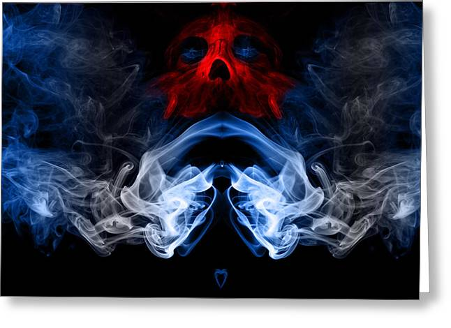 Greeting Card featuring the photograph Smoke Photoart by Cecil Fuselier