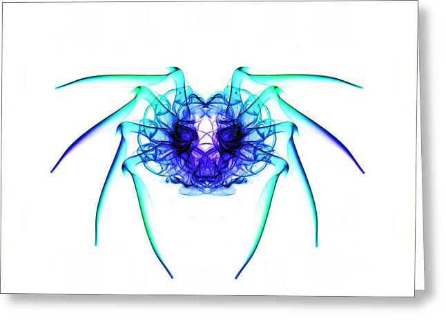 Smoke Spider 2 Greeting Card