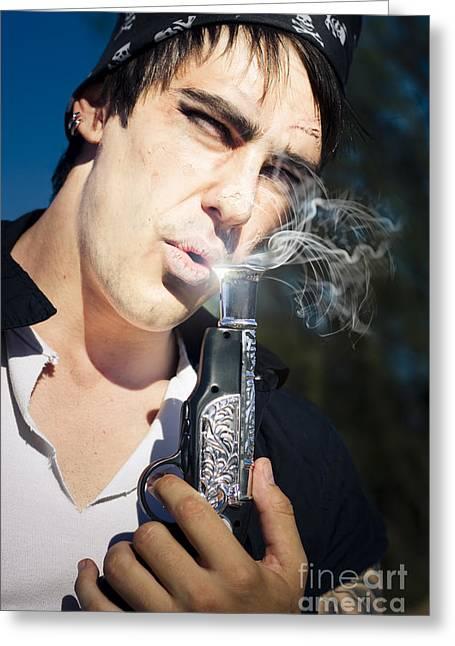 Smoking Gun Greeting Card by Jorgo Photography - Wall Art Gallery