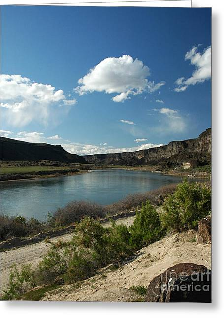 711p Snake River Birds Of Prey Area Greeting Card