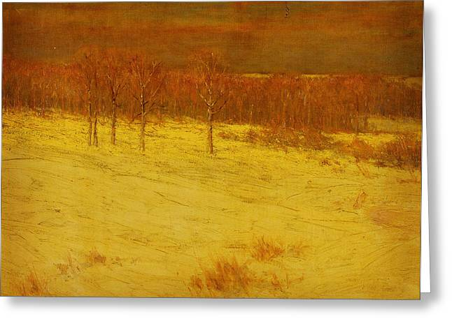 Snow Covered Fields Greeting Card