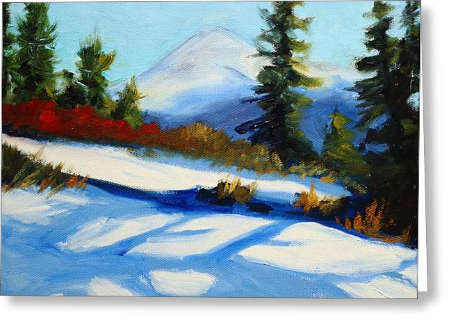 Snow Shadows Greeting Card by Nancy Merkle