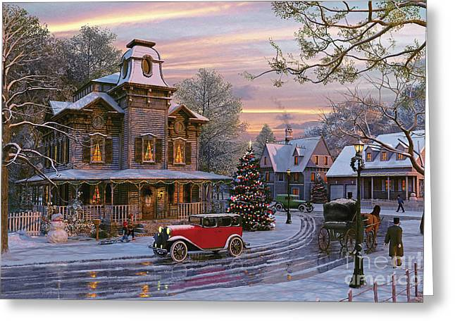 Snow Streets Greeting Card