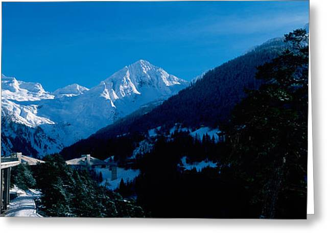 Snowcapped Mountain Range, Simplon Greeting Card by Panoramic Images