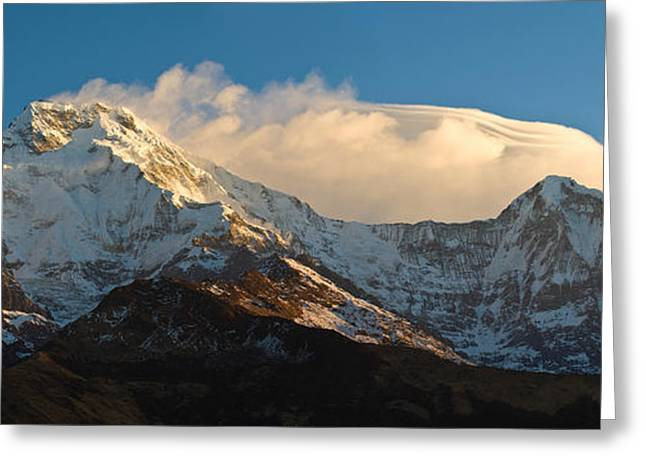 Snowcapped Mountains, Hiunchuli Greeting Card