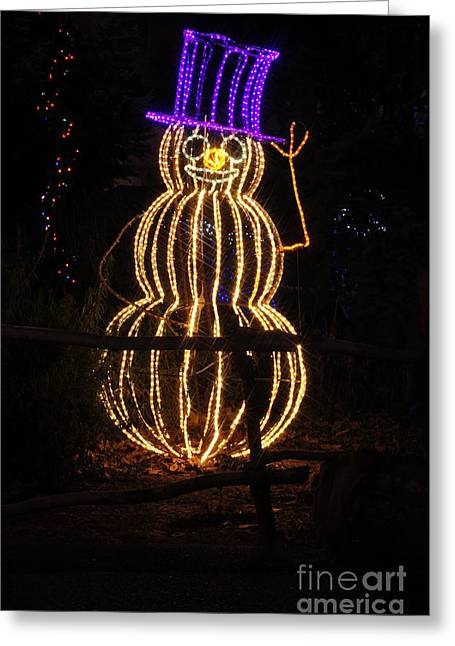 Snowman Greeting Card by Mandy Judson