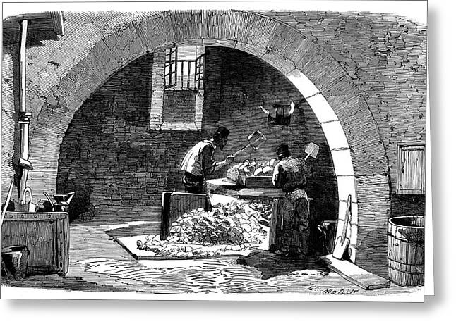 Soap Factory Workers Greeting Card by Science Photo Library